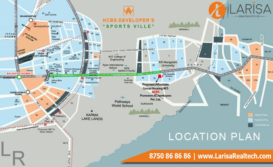 HCBS SPORTS VILLE Location Map
