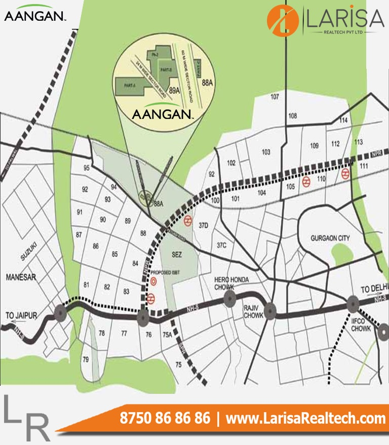 Adani Aangan Location Map