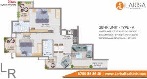 GLS South Avenue Floor Plan 2 BHK Type A
