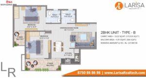GLS South Avenue Floor Plan 2 BHK Type B