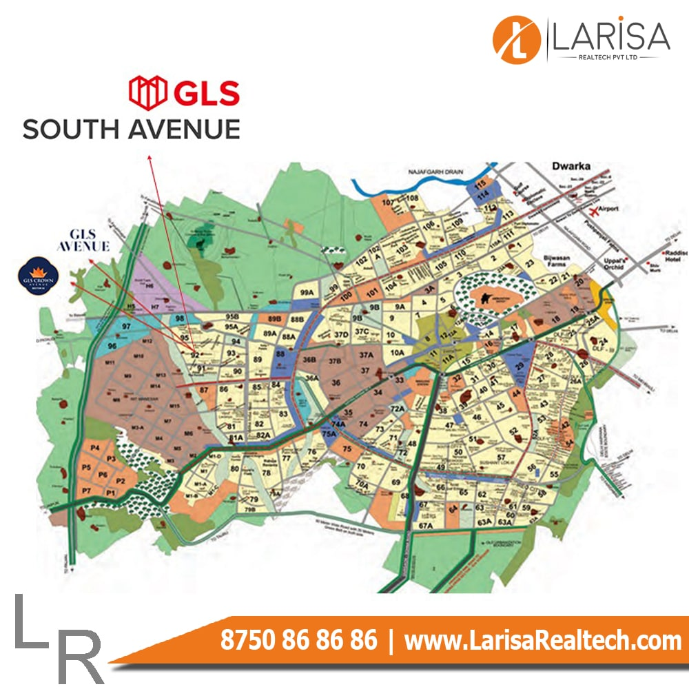 GLS South Avenue Location Map