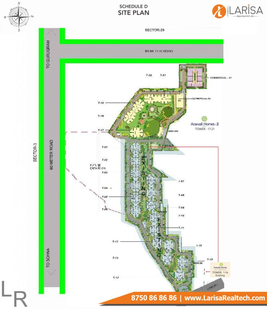 Gls Arawali Homes 2 Site Plan