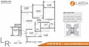 Godrej Air Floor Plan 2BHK Type 1