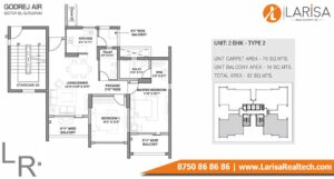 Godrej Air Floor Plan 2BHK Type 2