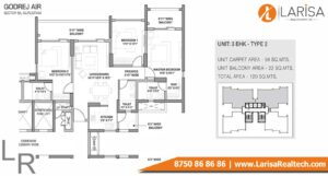 Godrej Air Floor Plan 3BHK Type 2