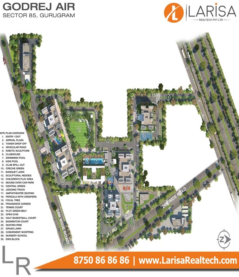 Godrej Air Site Plan