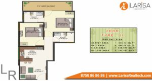 HCBS SPORTS VILLE Floor Plan 2 BHK type 2