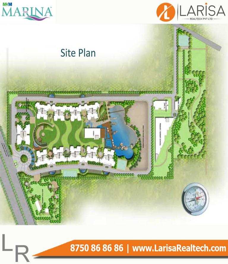 M3M The Marina Site Plan