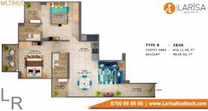 MRG World Ultimus Floor Plan Type B