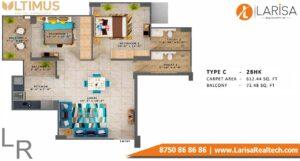 MRG World Ultimus Floor Plan Type C