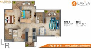 MRG World Ultimus Floor Plan Type D