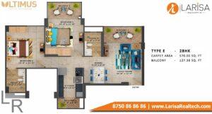 MRG World Ultimus Floor Plan Type E
