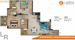 MRG World Ultimus Floor Plan Type F
