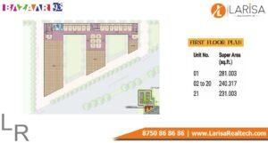 MRG World Bazaar 93 First Floor Plan