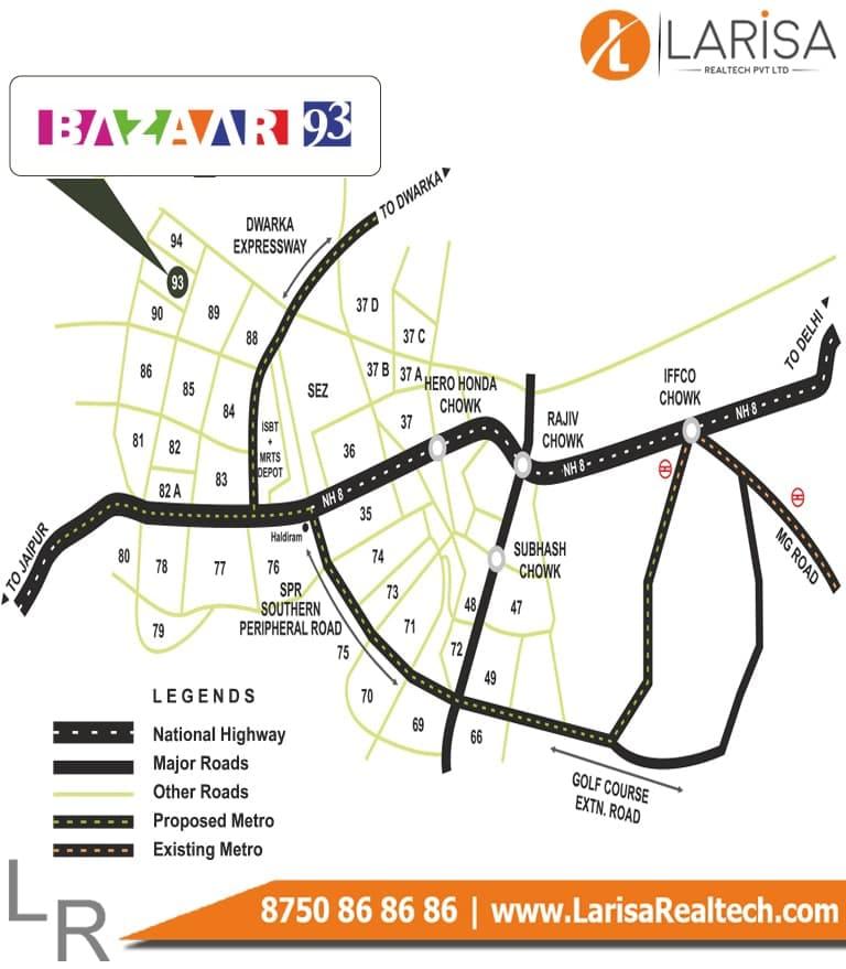 MRG World Bazaar 93 Location Map