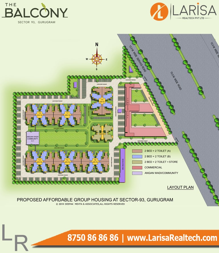 MRG World The Balcony Site Plan