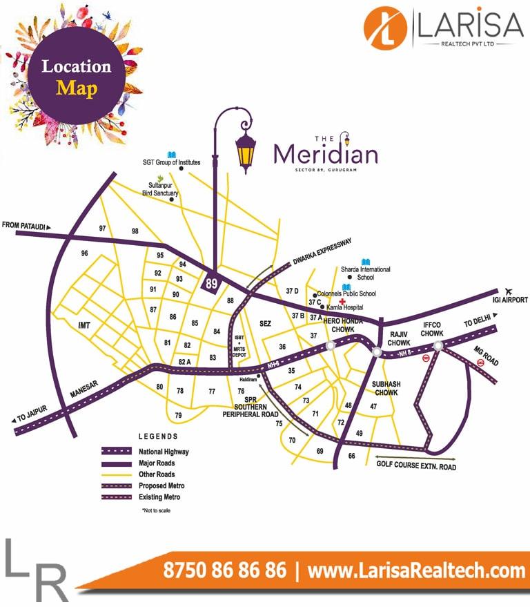MRG World The Meridian Location Map
