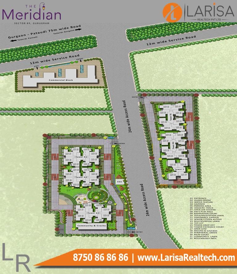 MRG World The Meridian Site Plan
