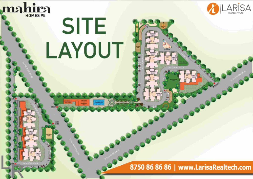 Mahira Homes 95 Site Plan
