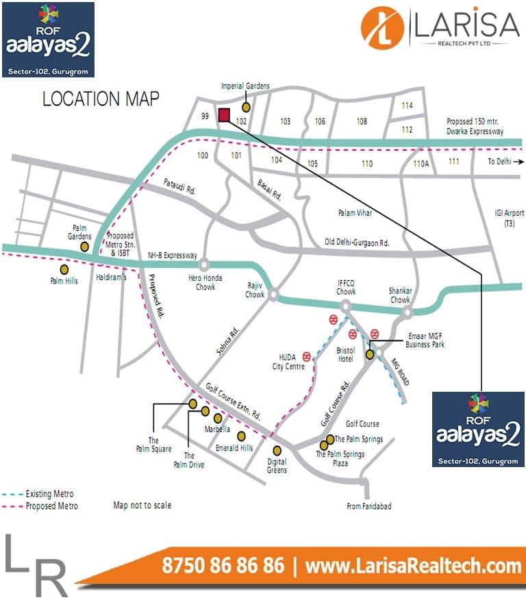 ROF Aalayas-2 3BHK Location Map