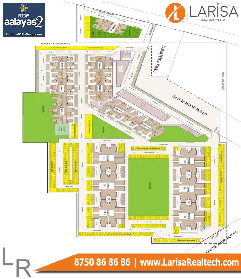ROF Aalayas-2 3BHK Site Plan