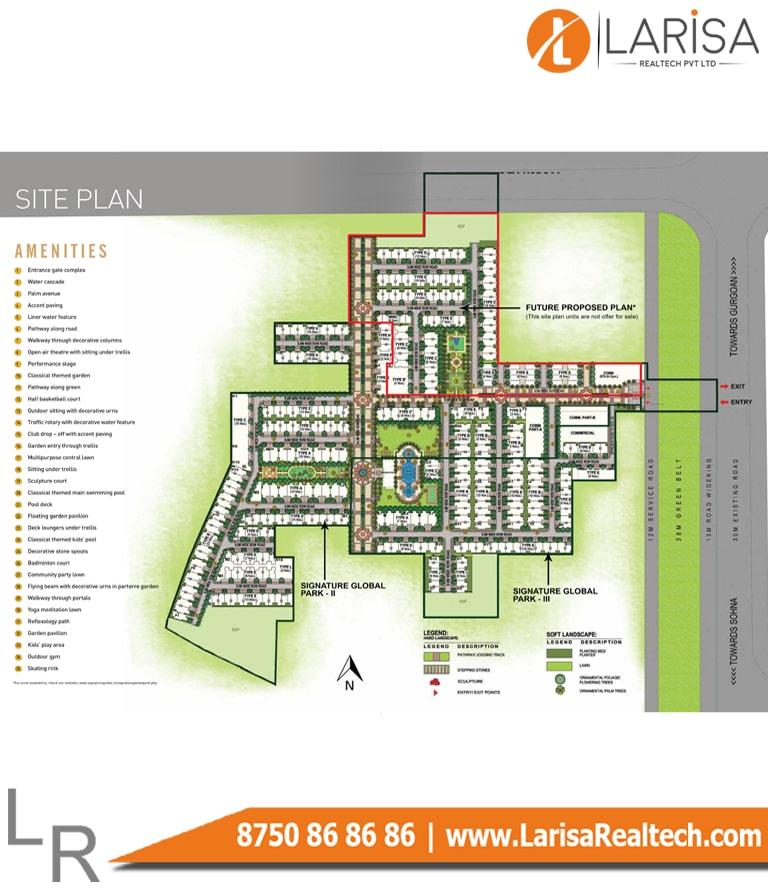 Signature Global Park Floors 2&3 Site Plan