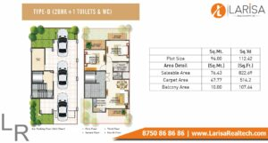 Signature Global Park Floors Floor Plan 2 BHK+1 Type D