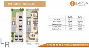 Signature Global Park Floors Floor Plan 2 BHK+1 Type J