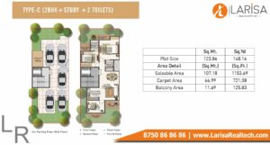 Signature Global Park Floors Floor Plan 2 BHK+S Type C