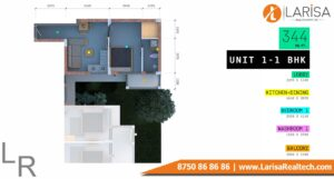 Trisara Our Homes 3 Unit-1 1 BHK