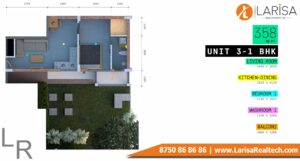 Trisara Our Homes 3 Unit-3 1 BHK