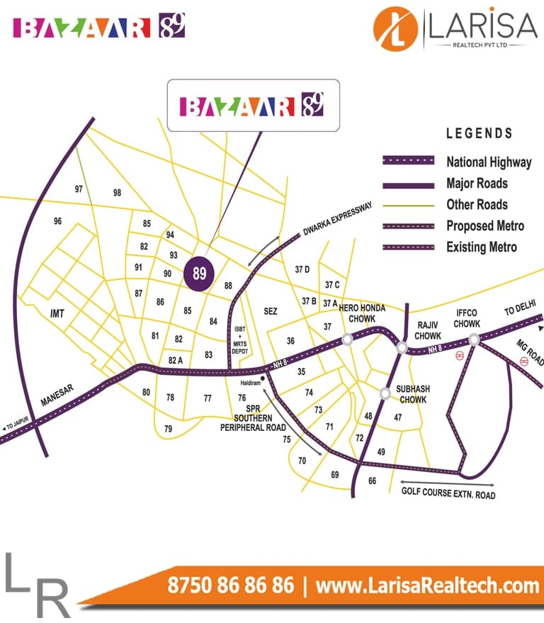 MRG World Bazaar 89 Location Map