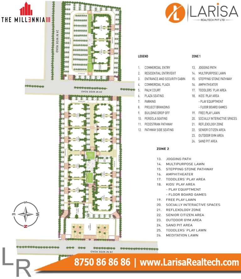 Signature Global Millennia 3 Site Plan