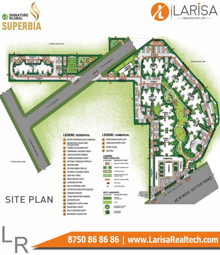 Signature Global Superbia Site Plan
