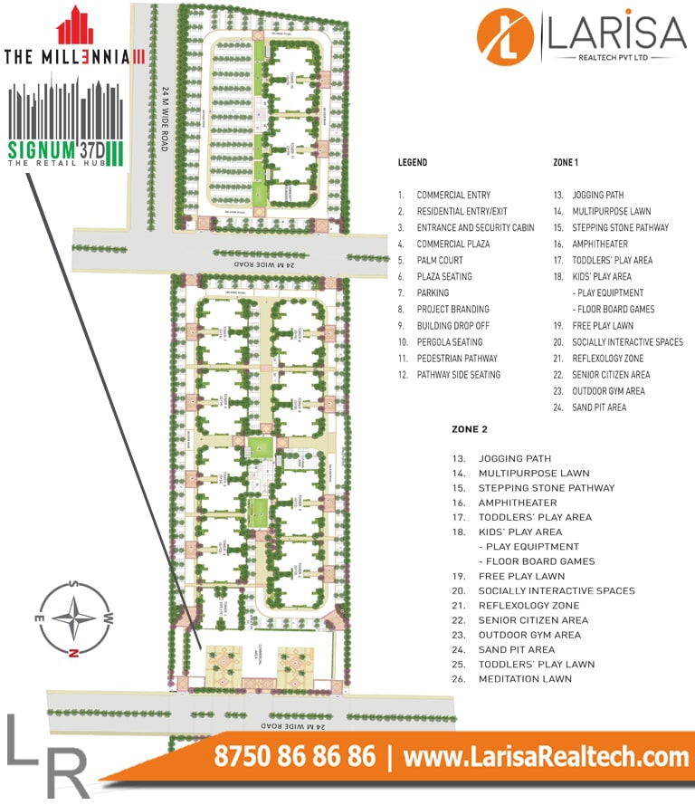 Signature Global Signum 37D 3 Site Plan