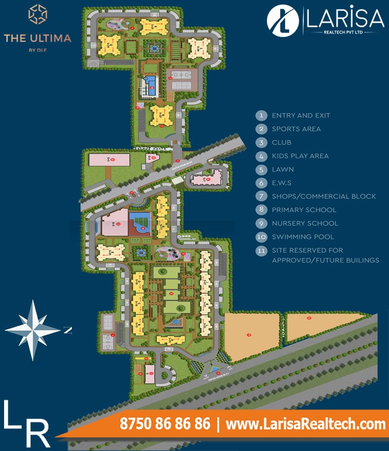 DLF The Ultima Site Plan