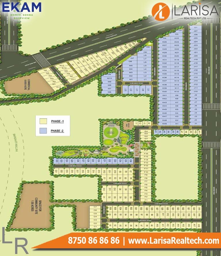 Ekam Rose View Plots Site Plan