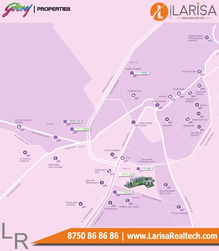 Godrej 101 Location Map