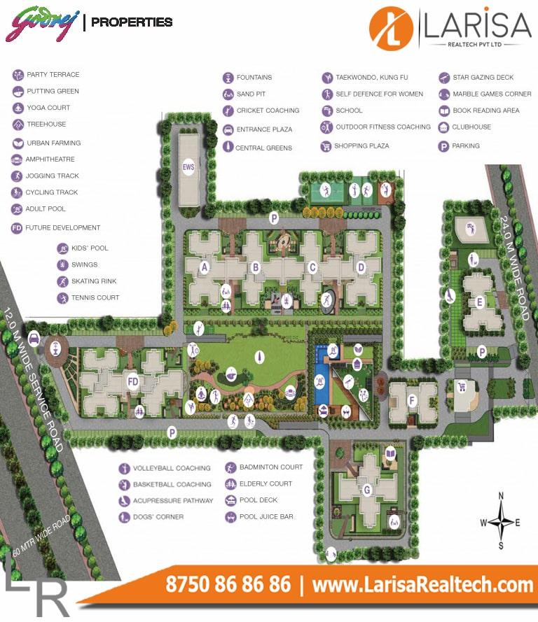 Godrej 101 Site Plan