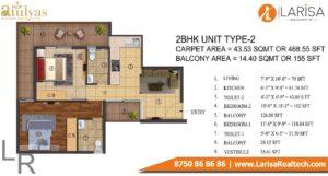 ROF Atulyas Floor Plan 2bhk type2