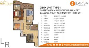 ROF Atulyas Floor Plan 3bhk type1