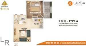 Pyramid Infinity Floor Plan 1 BHK Type A