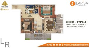 Pyramid Infinity Floor Plan 3 BHK Type A