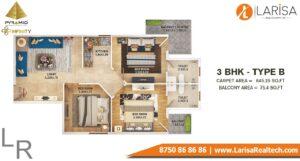 Pyramid Infinity Floor Plan 3 BHK Type B