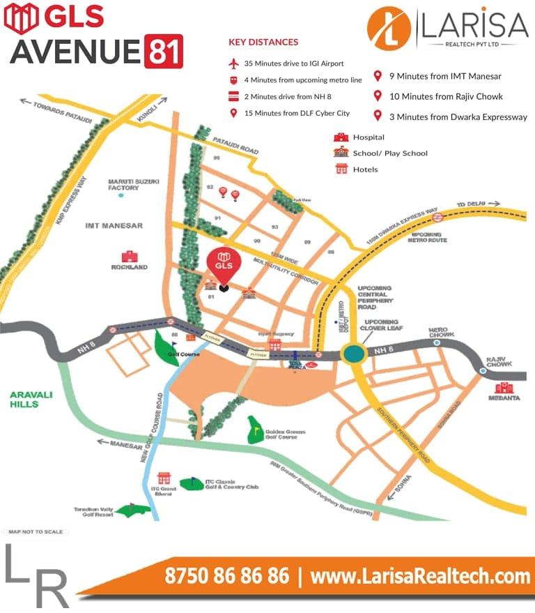 GLS Avenue 81 Location Map
