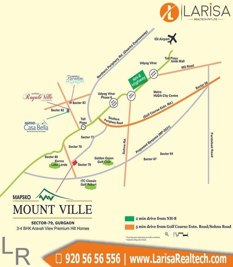 Mapsko Mount Ville Location Map