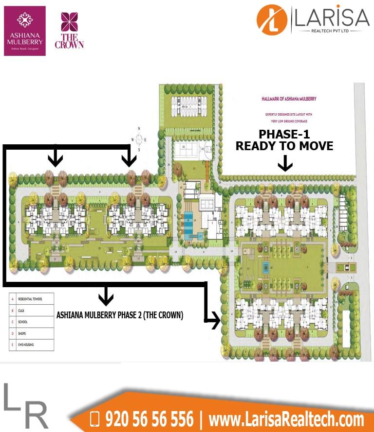 Ashiana Mulberry The Crown Site Plan