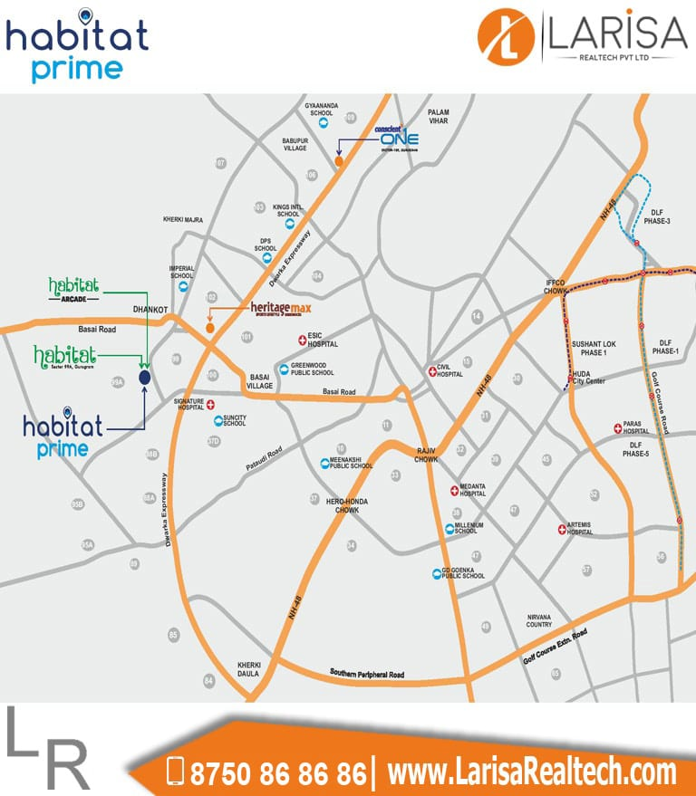 Conscient Habitat Prime Location Map