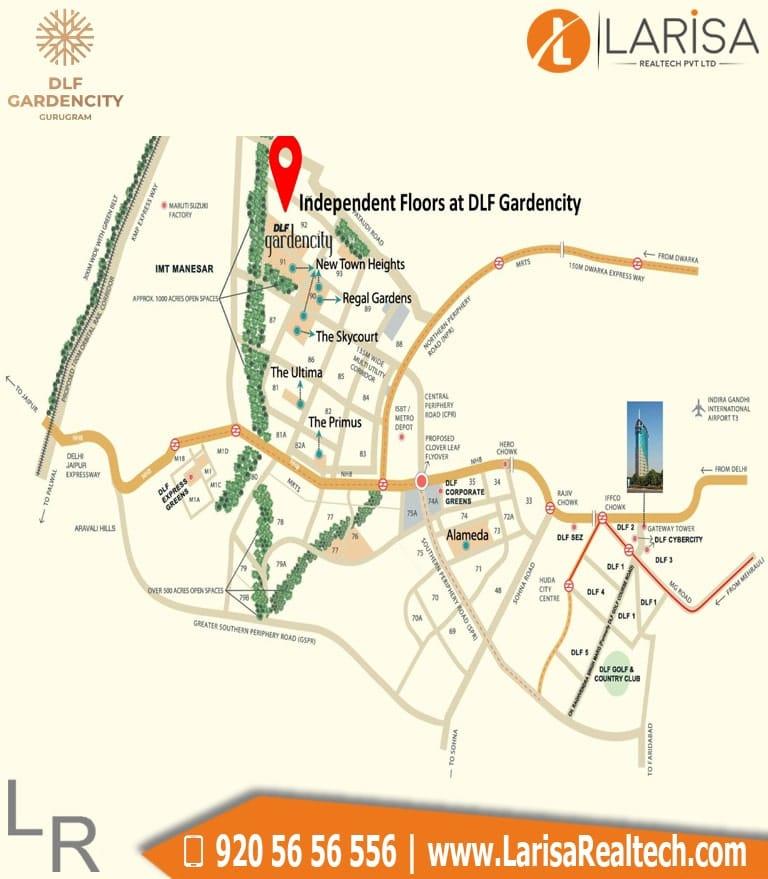 DLF Garden City Floors Location Map