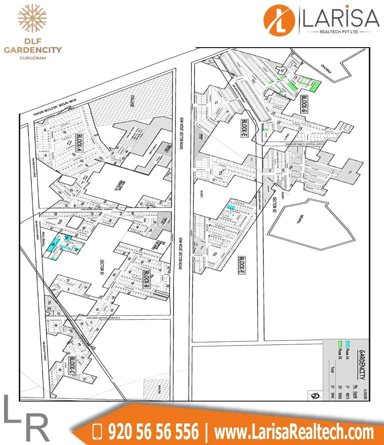 DLF Garden City Floors Site Plan